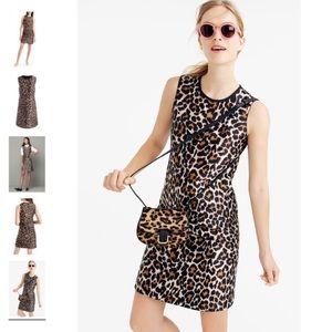J crew leopard print shift dress